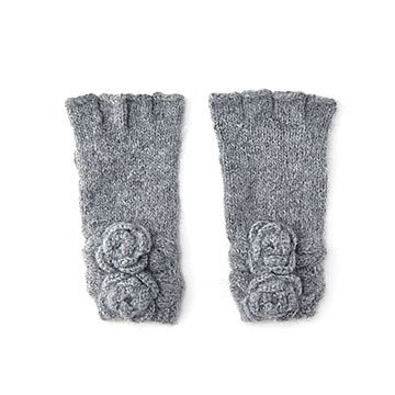 Flower Bouquet Cut Off Gloves