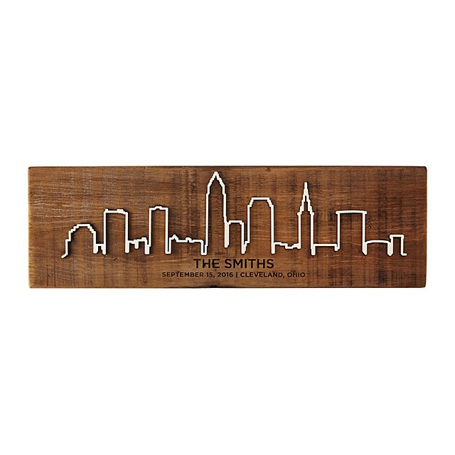 Personalized Reclaimed Wood Cityscape