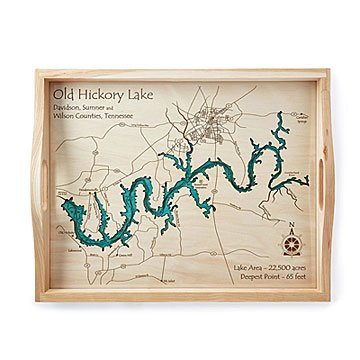 Old Hickory Lake Topographic Map.Related Items Hand Crafted Lake Map Topography Art Uncommongoods