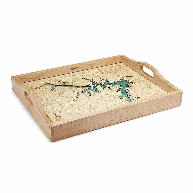 Coastal and Lake Art Serving Trays