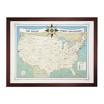Personalized Family Travel Pushpin USA Map