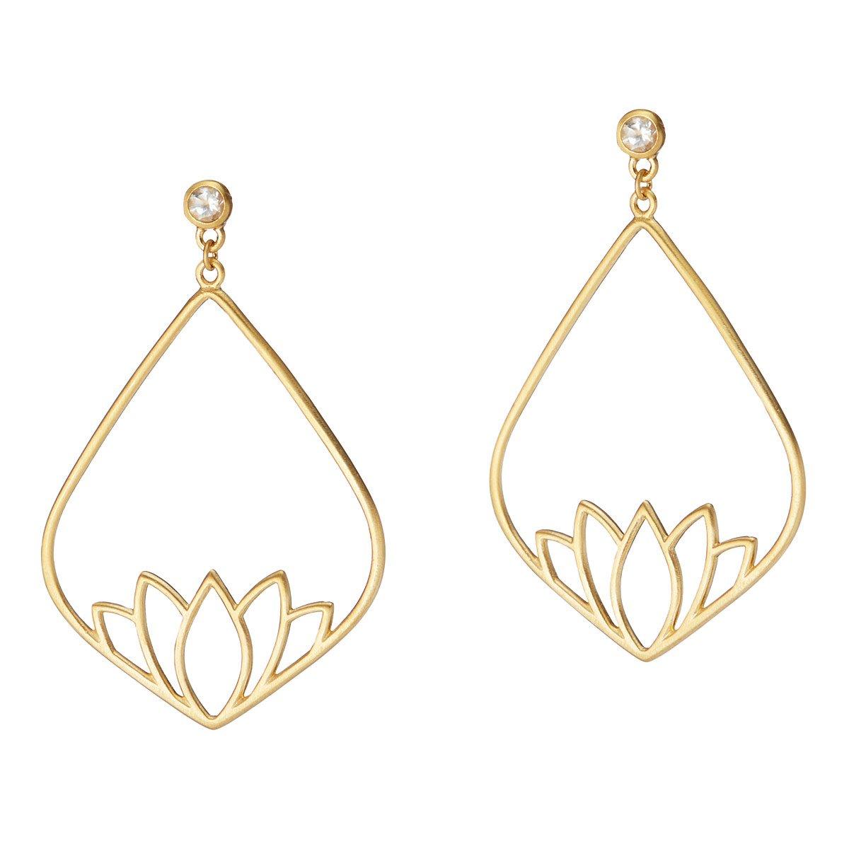 New Beginnings Lotus Earrings Inspirational Jewelry Uncommongoods