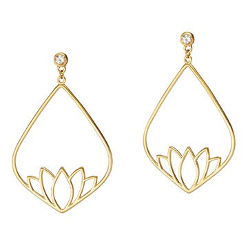 New Beginnings Lotus Earrings