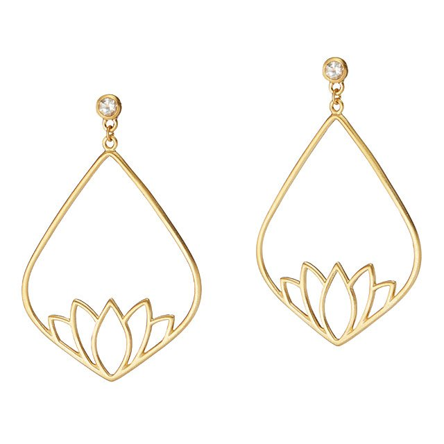 New Beginnings Lotus Earrings Inspirational Jewelry Uncommongoods