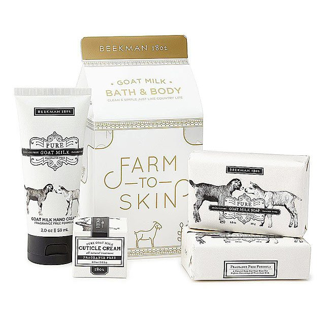 K'Mich Weddings - wedding planning - gifts for MOB - pure goat milk carton gift set - bath set - wellness gift - uncommon goods