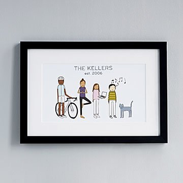 Personalized Family Hobby Art