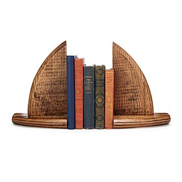 Recycled Bourbon Barrel Bookends