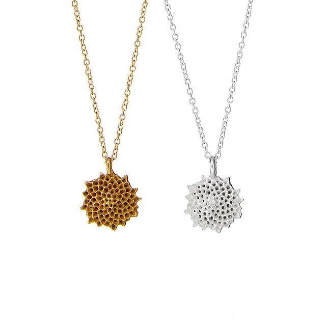 Sunflower Aromatherapy Necklace