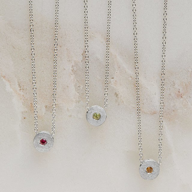 Birthstones of Peace Necklace