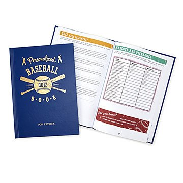 Personalized Baseball Trivia Book