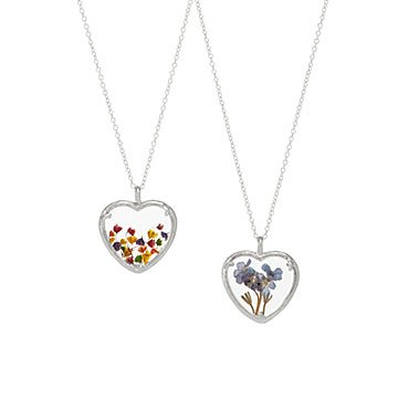 Floral Heart Necklaces