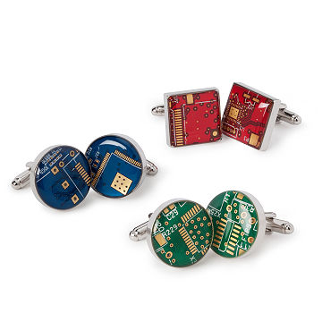 Reclaimed Circuit Board Cufflinks