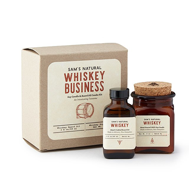 Whiskey Business Beard Oil and Candle Duo