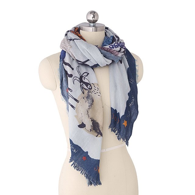 Crazy Goats Warm Wool Scarf