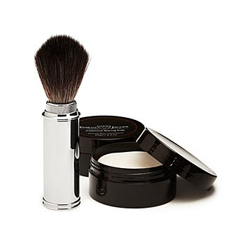 Travel Shaving Brush and Shaving Soap Duo