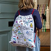 World Map Coloring Backpack