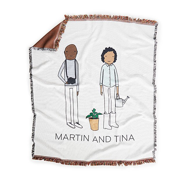 Personalized Couple Hobby Blanket