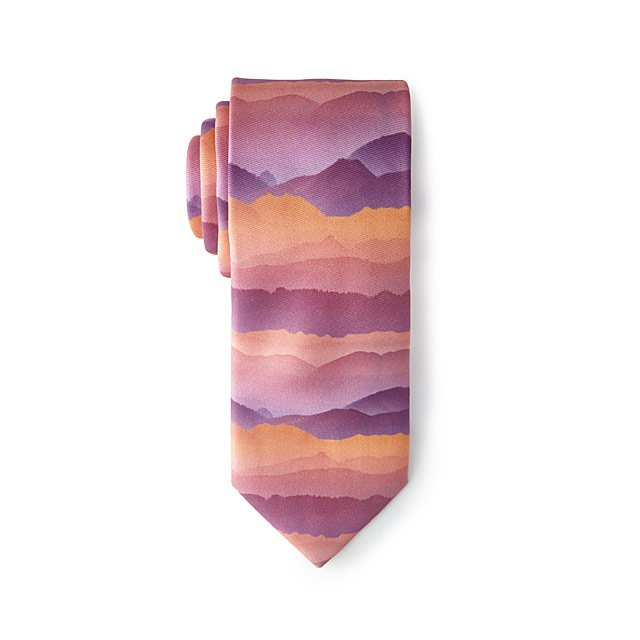 Mountain Sunset Necktie