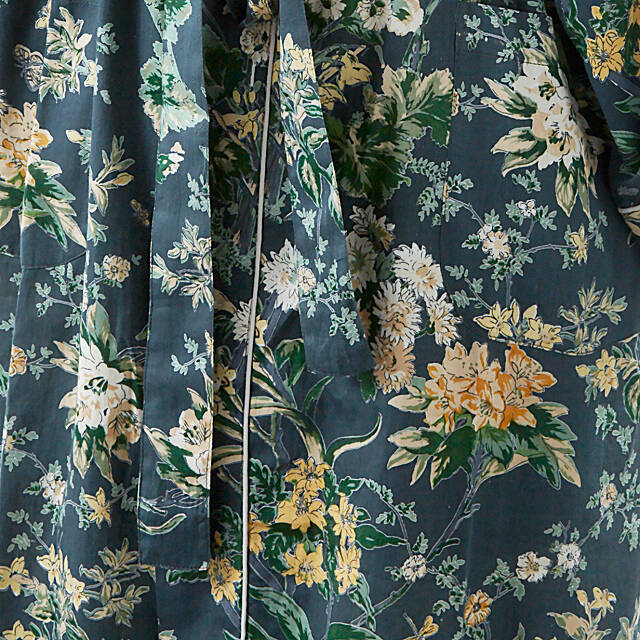 Floral Spruce Cotton Robe