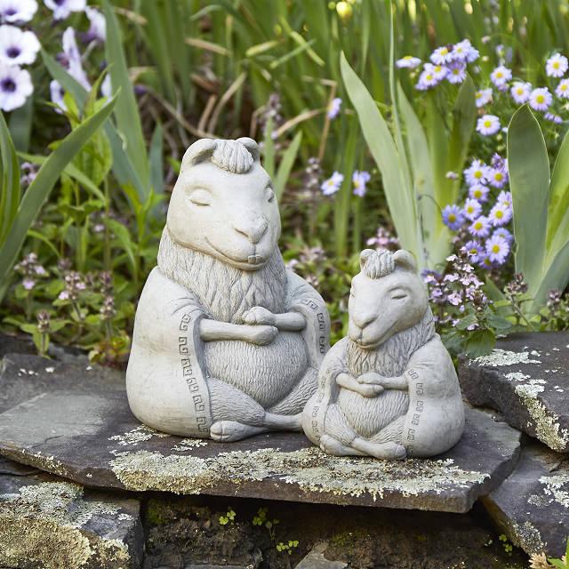 Zen Llama Garden Sculpture, Zen Garden Sculptures