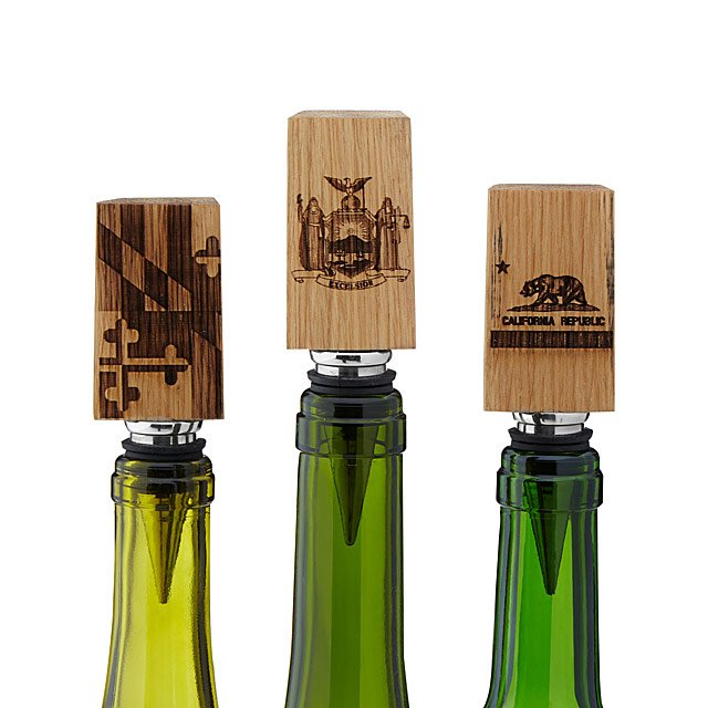 Wine Barrel State Flag Bottle Stoppers