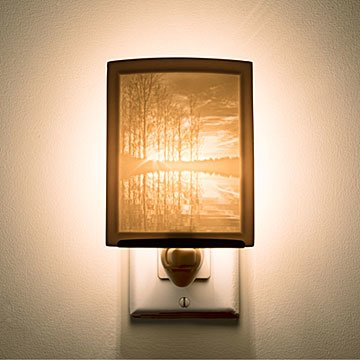 Lakeshore Sunset Porcelain Nightlight