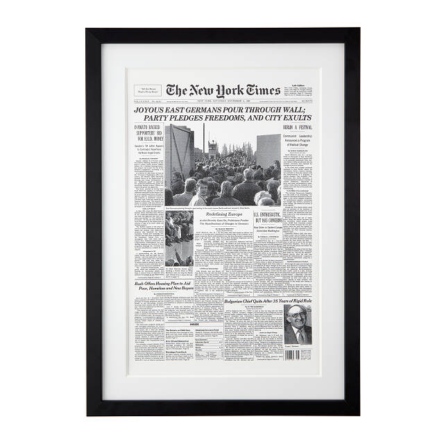 New York Times Custom Front Page Reprint