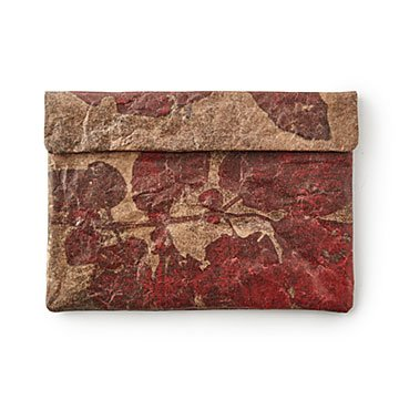 Winter Leaf Paper Laptop Sleeve
