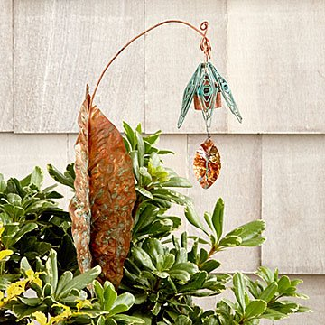 Bellflower Chime Garden Stake