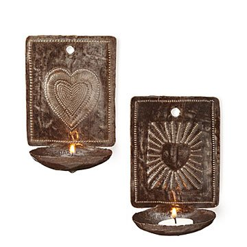 Heart Sconce Set