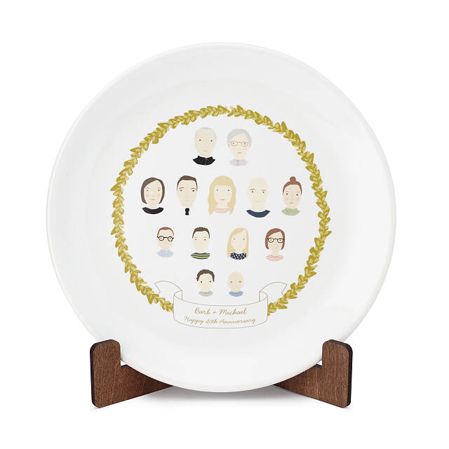 Personalized Family Portrait Plate