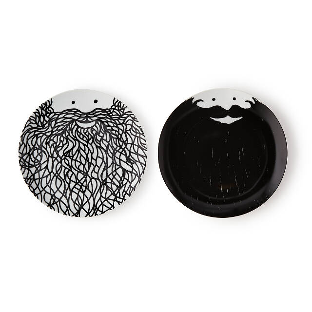 Food In My Beard Face Plates - Set of 2
