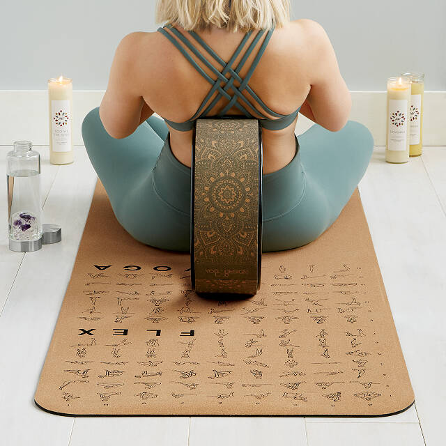 Instructional Cork Yoga Mat