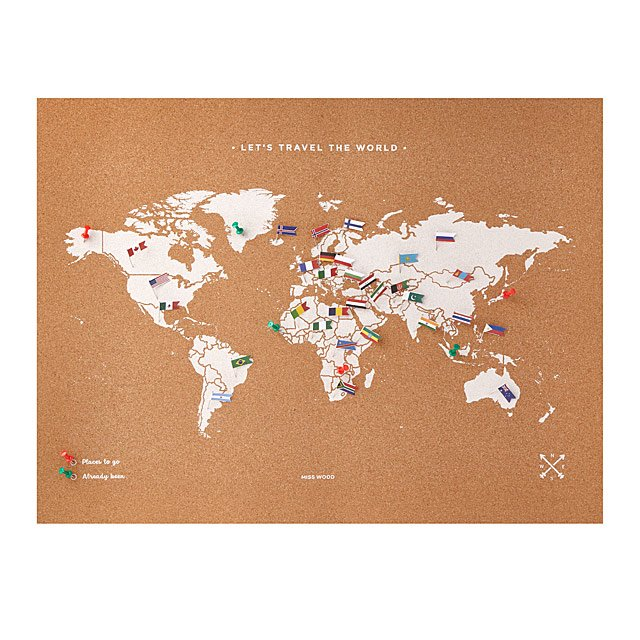 Map Of World Flags.Cork Map With World Flag Pins Interactive World Map International