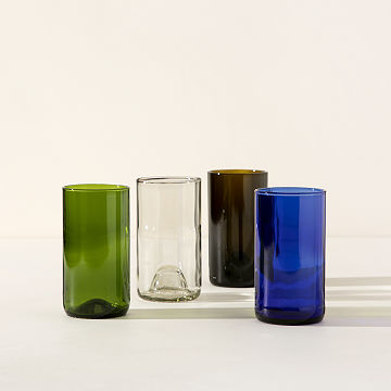 Wine Bottle Drinking Glasses - Set of 4