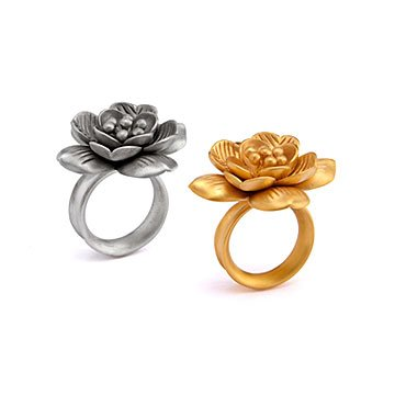 Begin Anew Lotus Blossom Rings