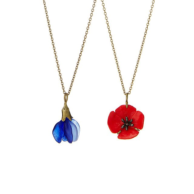 Glass Flower Necklaces