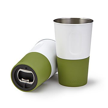 Outdoor Tumblers with Bottle Opener - Set of 2