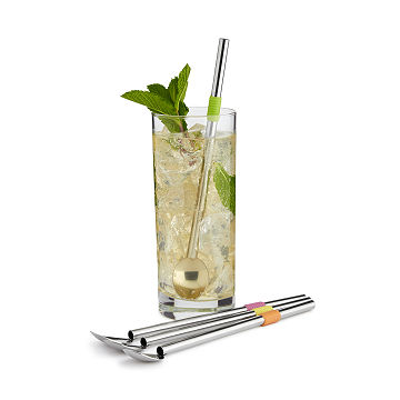 Cocktail Spoon Straws