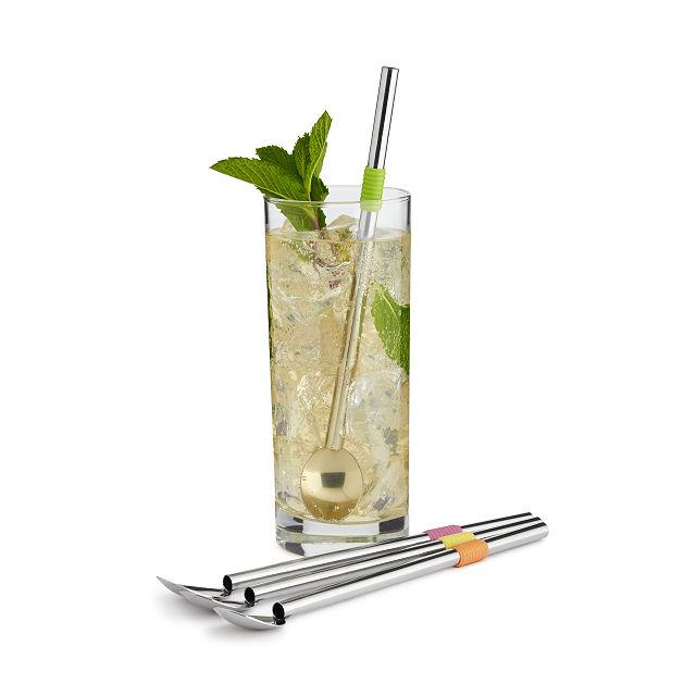 Cocktail Spoon Straws