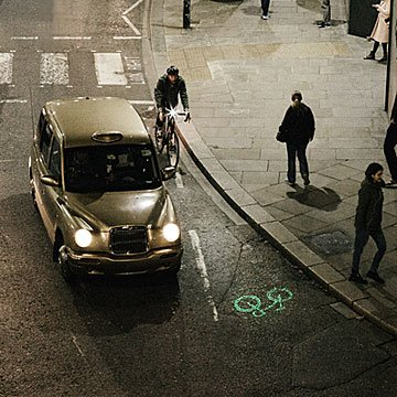 Be Visible Laser Bike Light