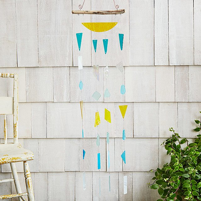 Blue Ceramic Cup Indoor//outdoor Tea Cup Wind Chimes Pitcher, Bits and Pieces