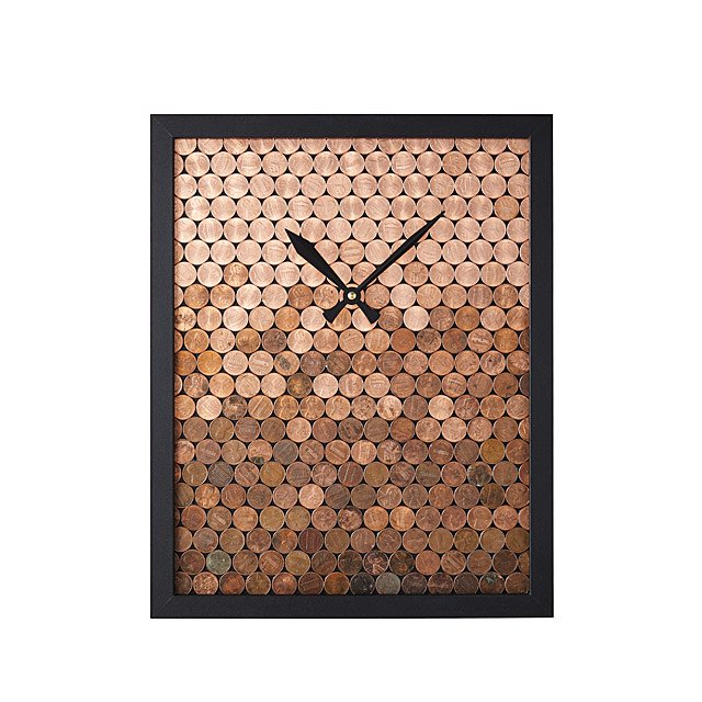 Ombre Lucky Penny Clock