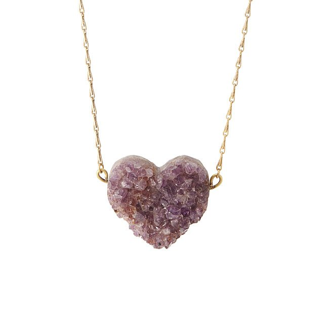 Geode Heart Necklace