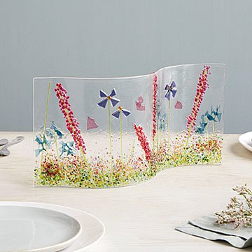 Wavy Wildflower Glass Centerpiece