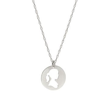 Custom Hand Cut Silhouette Art and Necklace Set