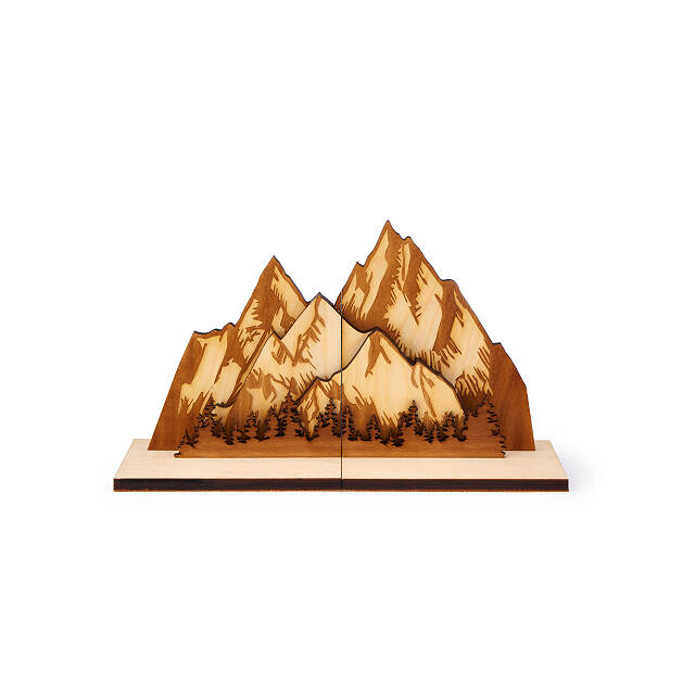 Mighty Mountain Bookends