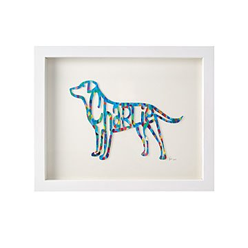 Personalized Dog Papercut