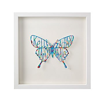 Personalized Butterfly Papercut