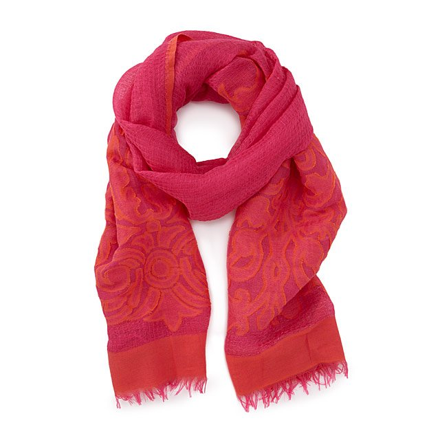 Electric Coral Scarf